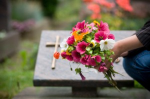 Cemetary visits are a healthy part of bereavement