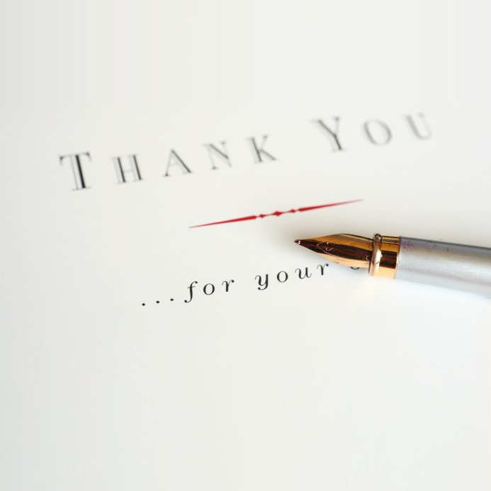 Thank you cards after a Funeral