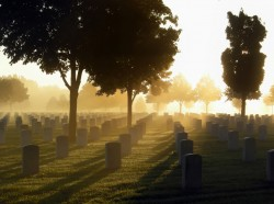 Cemetery is the dawn's light