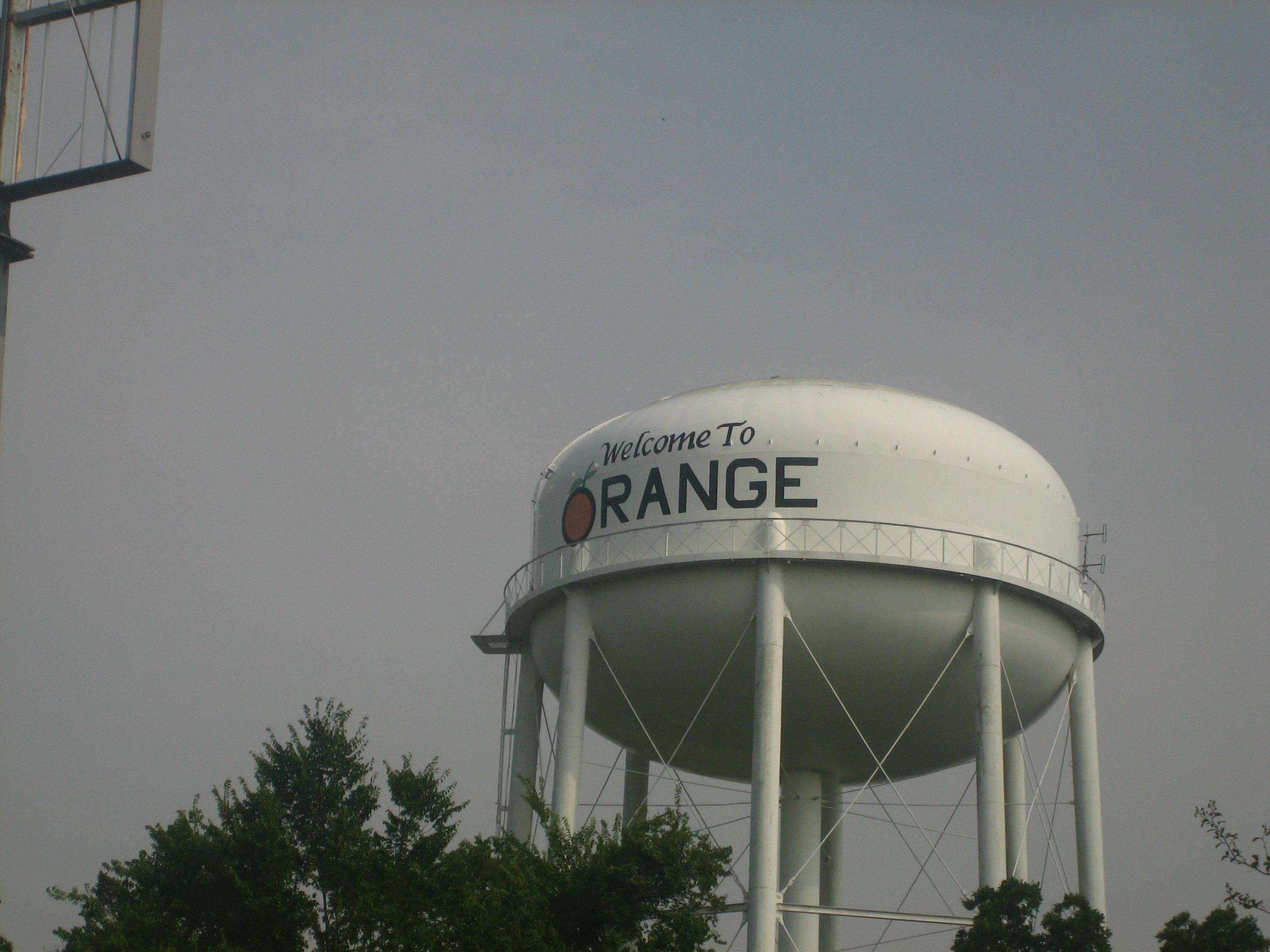 Water tower in Orange, Texas