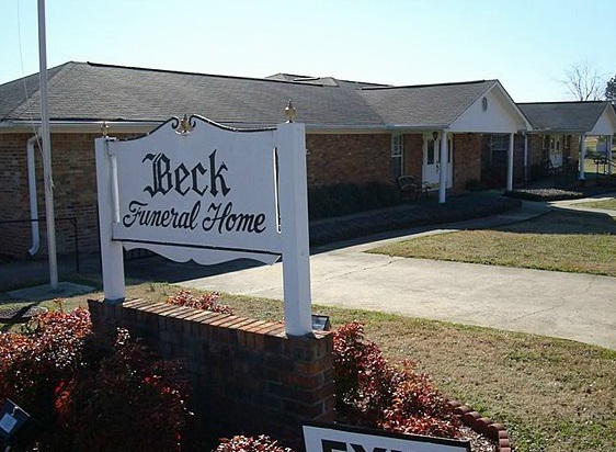 Exterior Shot Of Beck Funeral Home
