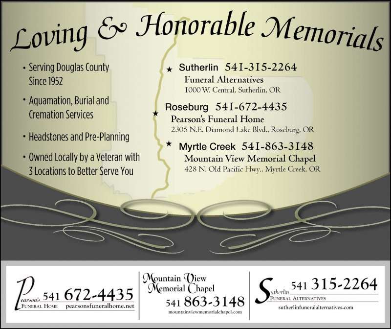 Roseburg Funeral Homes, funeral services & flowers in Oregon