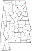 Location of Arab, Alabama