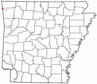 Location of Siloam Springs, Arkansas