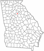 Location of Monroe, Georgia