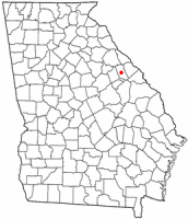 Location of Thomson, Georgia