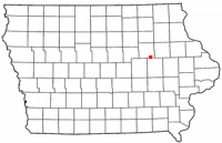 Location of La Porte City, Iowa