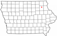 Location of West Union, Iowa