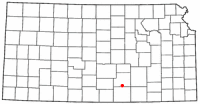 Location of Clearwater, Kansas