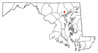 Location of Parkville, Maryland