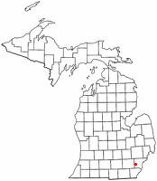 Location of Belleville, Michigan
