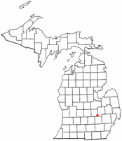 Location of Bryon, Michigan