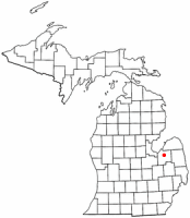 Location of Caro, Michigan