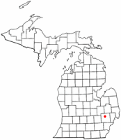 Location of Clarkston, Michigan