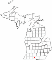 Location of Coldwater, Michigan