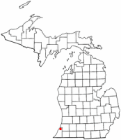 Location of Coloma, Michigan