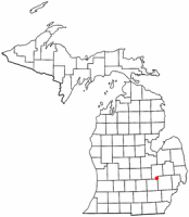 Location of Fenton, Michigan