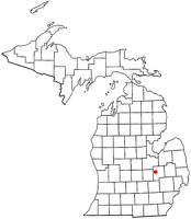 Location of Flushing within Genesee County, Michigan