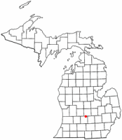 Location of Grand Ledge, Michigan