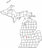 Location of Greenville, Michigan