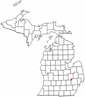 Location of Holly, Michigan