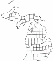 Location of Sylvan Lake, Michigan