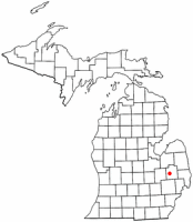 Location of Lapeer, Michigan