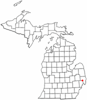 Location of Memphis, Michigan