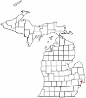 Location of New Haven, Michigan