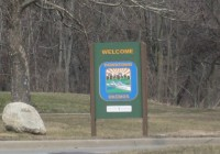 Okemos Michigan sign