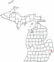 Location of Richmond, Michigan