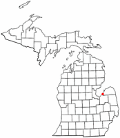 Location of Sebewaing, Michigan