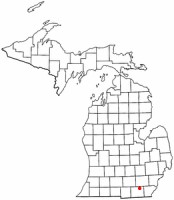 Location of Tecumseh, Michigan