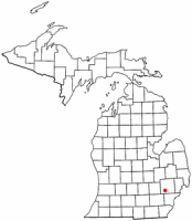 Location of Walled Lake, Michigan