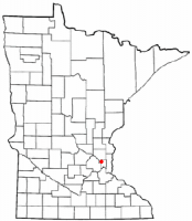 Location of New Brighton, Minnesota