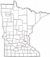 Location of Osseo, Minnesota