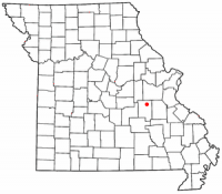 Location of Bourbon, Missouri