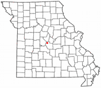 Location of Eldon, Missouri