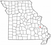Location of Farmington, Missouri