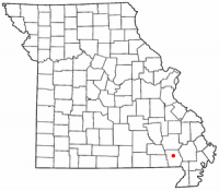 Location of Poplar Bluff, Missouri