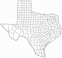 Location of Rockwall, Texas