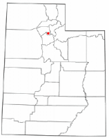 Location of Bountiful, Utah