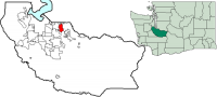 Location of Sumner, Washington