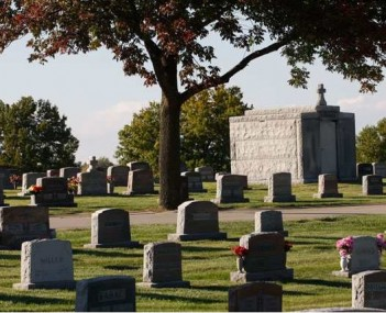 Exterior shot of Catholic Cemeteries Kck