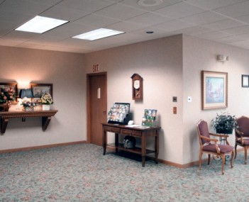 Interior shot of Hillside Funeral Home