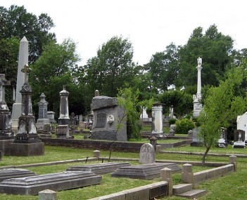 Exterior shot of Mount Holly Cemetery