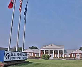 Exterior shot of Roller Funeral Home