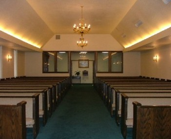 Interior shot of J Levy & Termini Funeral Home