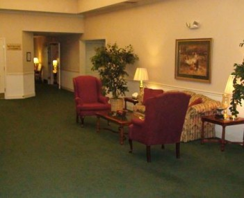 Interior shot of Powers' Funeral Home
