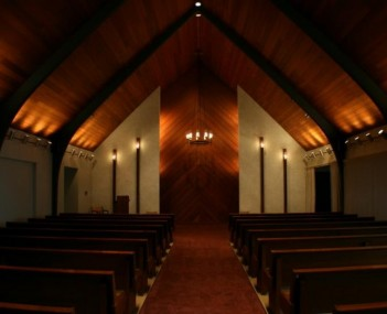 Interior shot of Lemley Funeral Chapel